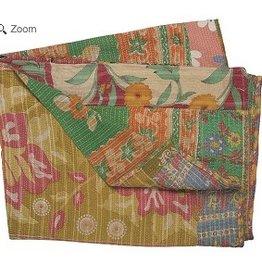 Stitch & Shuttle Vintage Kantha Throw, Patchwork