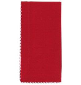 Stitch & Shuttle Saanvi Crimson Napkins Set/4