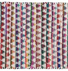 Stitch & Shuttle 3'x5' Patterned Chindi Rug, Triangles
