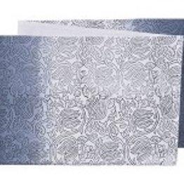 "Stitch & Shuttle Table Runner, Royalty Block Print Dip Dye, 72"""