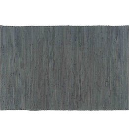 Stitch & Shuttle Solid Chindi Rug, Gray, 2'x3'