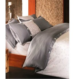 Intermark Massimo Grey Bamboo/Cotton Duvet Cover Set - Queen