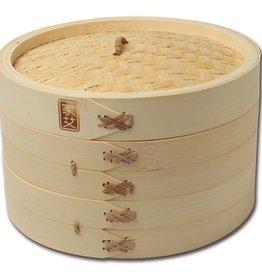 "Joyce Chen 10"" Bamboo Steamer 3pc Set"