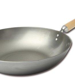 """Joyce Chen Carbon Steel Stir Fry Pan, 12""""/30cm"""