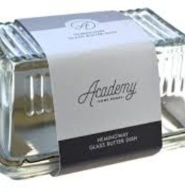 David Shaw Tableware Hemingway Glass Butter Dish, 10x17x8cm