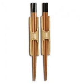 Joyce Chen Burnished Bamboo Chopsticks w/Bamboo Holder, 2 Pairs