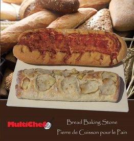 "David Shaw Tableware Bread Stone, 15x14"", w/Booklet"