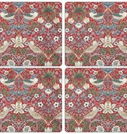 Pimpernel S/4 Cork-Backed Placemats, Strawberry Thief Red