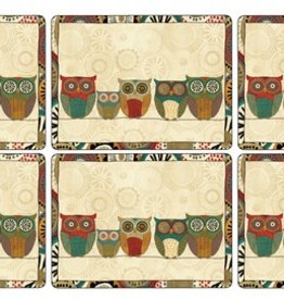 Pimpernel S/4 Cork-Backed Placemats, Spice Road (Owls)
