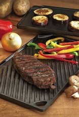 Lodge Cast Iron Reversible Double Play Grill/Griddle, 16.75x9.5""