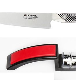 Global 2Pc Set, G2 Knife & 220 Minosharp Water Sharpener