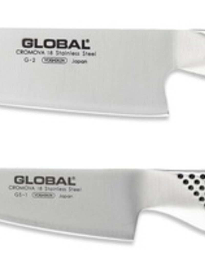 Global Knife Set 2Pc (G2-Cook, GS1-Kitchen)