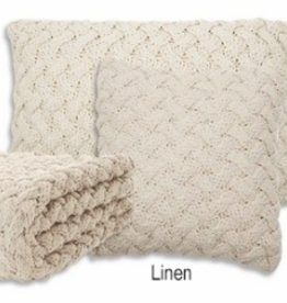 Brunelli (HB Promotion Inc) Hook Linen Cushion 20x20 w/ filler