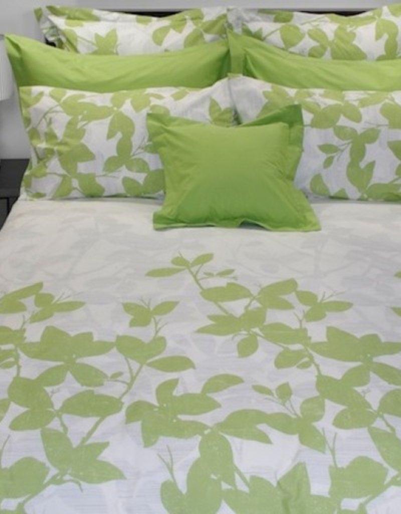Cuddle-Down Green Leaves Sheet Set King