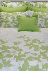 Cuddle-Down Green Leaves sheet set twin
