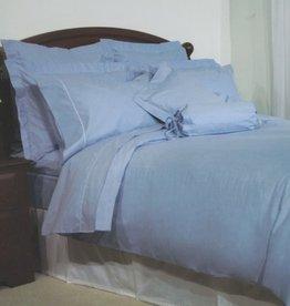 Cuddle-Down Chambray Blue Duvet Set King
