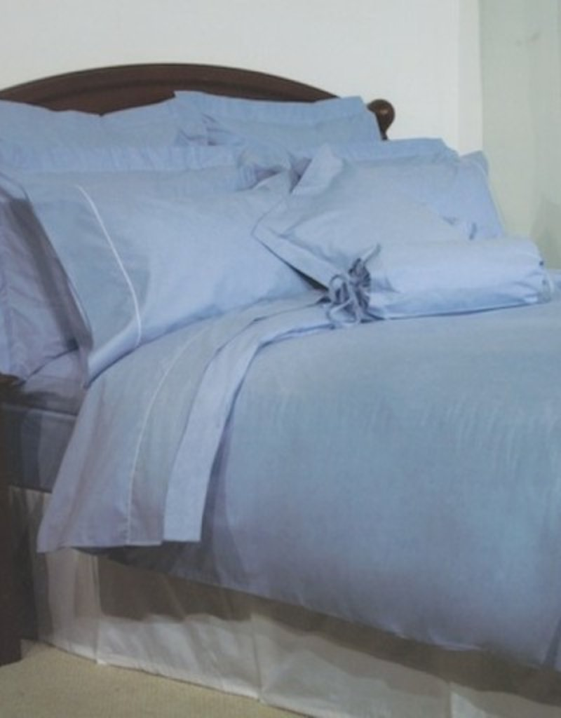 Cuddle-Down Chambray Blue Duvet Set Queen