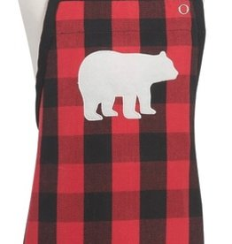 Now Designs Apron Kids, Buffalo Check Bear