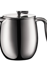 Bodum Columbia French Press Coffee Maker, Double Wall, 4 cup, 0.5 l, 17 oz, S/S