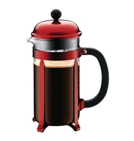 Bodum Chambord Coffee Maker, 8 cup, 1.0 L, 34 oz Red