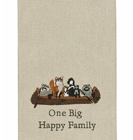 Park Designs/Split P One Big Happy Family Dishtowel
