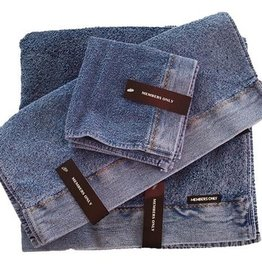 Intermark Stonewash Towel Denim Set (Bath Towel, Hand Towel and Wash Cloth)