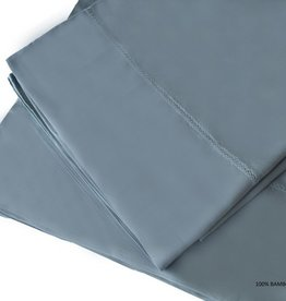 The St.Pierre Home Fashion Collection Bamboo Queen Sheet Set Wedgewood Blue