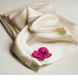 The St.Pierre Home Fashion Collection Mulberry Silk Pillowcase Queen, Ivory