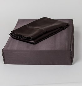 The St.Pierre Home Fashion Collection Mulberry Silk Pillowcase Queen, Charcoal