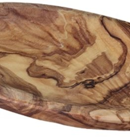 Le Souk Ceramique Olive Wood Oval Tray, Medium, 4x7""