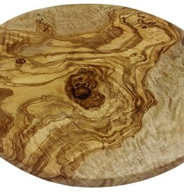 Le Souk Ceramique Olive Wood Round Board, Large, 12-13""