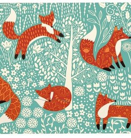 Ulster Weavers S/4 Cork-Backed Mini Placemats, Foraging Fox