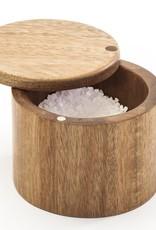 Natural Living Acacia Salt Keeper w/Swivel