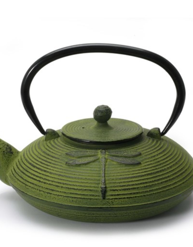 Zen Cuizine Dragonfly Tea Pot, Cast Iron, Green