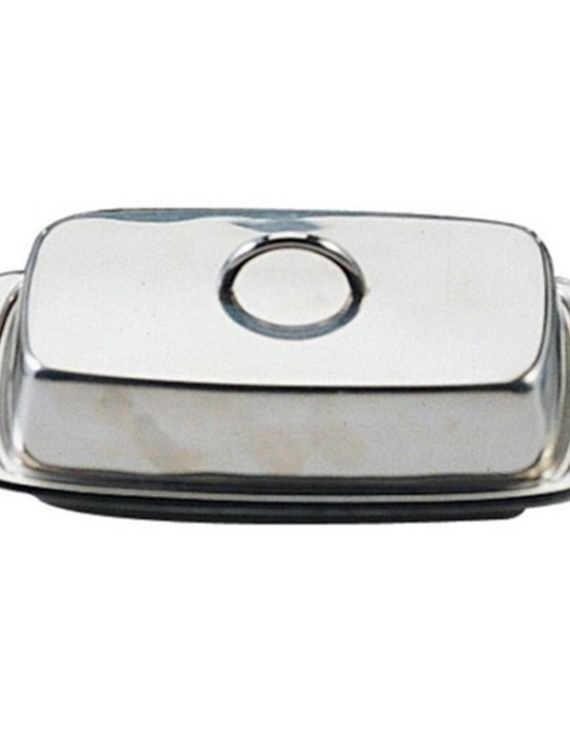 Danesco Butter Dish w/Cover, Stainless Steel