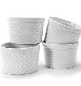 Bia Ramekins, Textured, Set/4, White