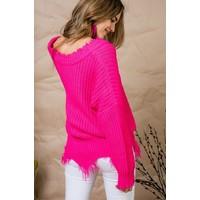 Frayed Sweater