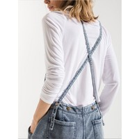 Knit Denim Overall