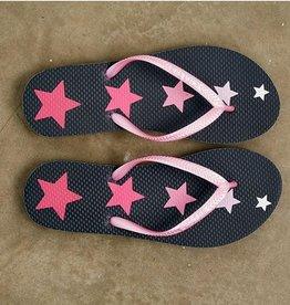 Pink Stars Flip Flops