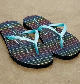 Rainbow Bolt Flip Flops