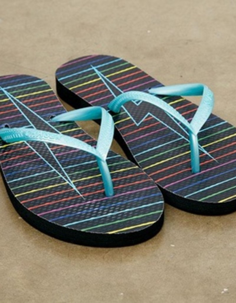 Rainbow Bolt Flip Flops-