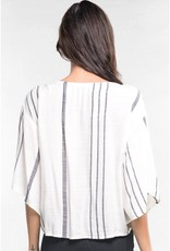 Striped Kimono Top