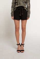 Shorts with Self Belt