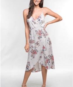 Alma Floral Wrap Dress-
