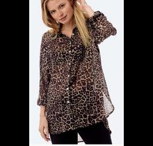 Maelle Leopard Sheer Top