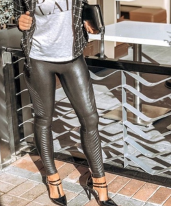 Gunmetal Moto Leggings