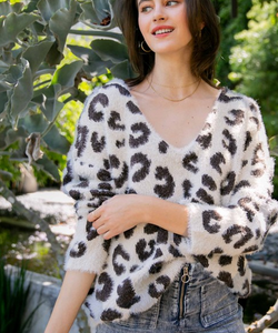 Mohair Leopard Pulloever