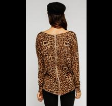 Leopard Zip Top