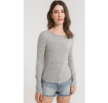Marled Long Sleeve Fitted Top