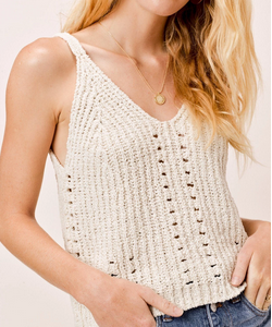 Ribbed Tank Sweater